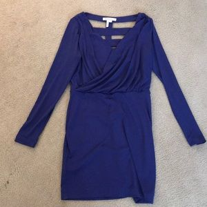 Purple BCBG generation long sleeve dress